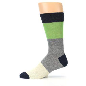 Image of Grey Green Mr. Fix It Men's Dress Socks (side-2-11)