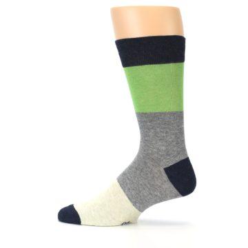 Image of Grey Green Mr. Fix It Men's Dress Socks (side-2-12)
