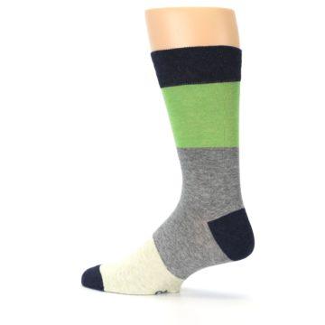 Image of Grey Green Mr. Fix It Men's Dress Socks (side-2-13)