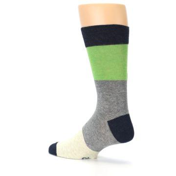 Image of Grey Green Mr. Fix It Men's Dress Socks (side-2-back-14)