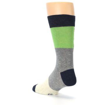 Image of Grey Green Mr. Fix It Men's Dress Socks (side-2-back-15)