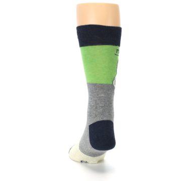 Image of Grey Green Mr. Fix It Men's Dress Socks (back-17)