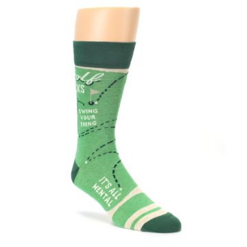 green and grey golfing socks by Blue Q