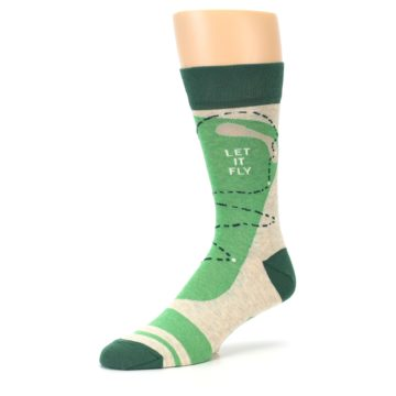 Image of Green Golf Men's Dress Socks (side-2-09)