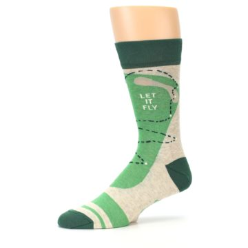 Image of Green Golf Men's Dress Socks (side-2-10)