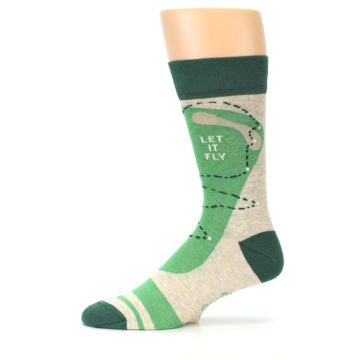 Image of Green Golf Men's Dress Socks (side-2-11)