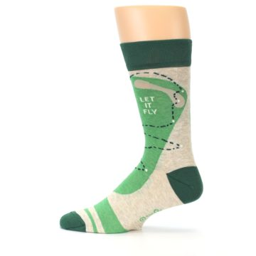 Image of Green Golf Men's Dress Socks (side-2-12)