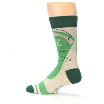 Image of Green Golf Men's Dress Socks (side-2-13)