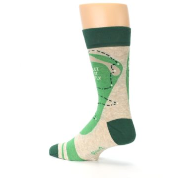 Image of Green Golf Men's Dress Socks (side-2-back-14)