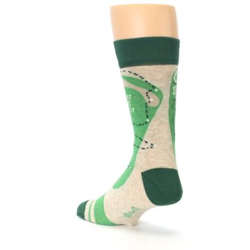 Image of Green Golf Men's Dress Socks (side-2-back-15)