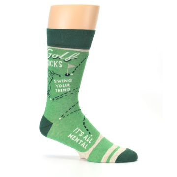 Image of Green Golf Men's Dress Socks (side-1-25)