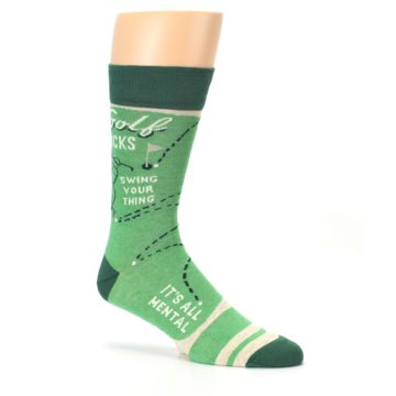 Image of Green Golf Men's Dress Socks (side-1-26)