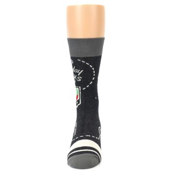 Image of Charcoal Sunday Night Football Men's Dress Socks (front-05)