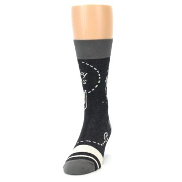 Image of Charcoal Sunday Night Football Men's Dress Socks (side-2-front-06)