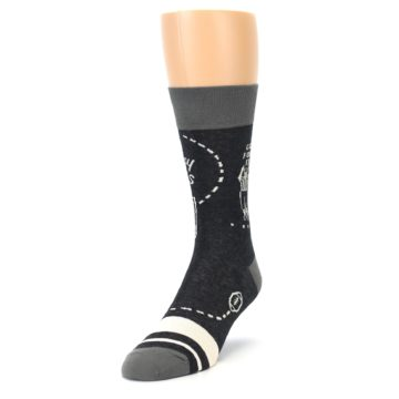 Image of Charcoal Sunday Night Football Men's Dress Socks (side-2-front-07)