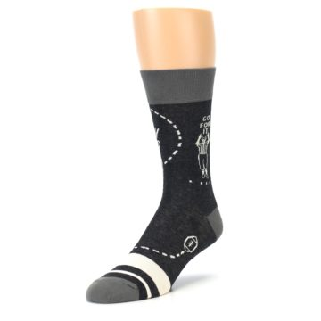 Image of Charcoal Sunday Night Football Men's Dress Socks (side-2-front-08)