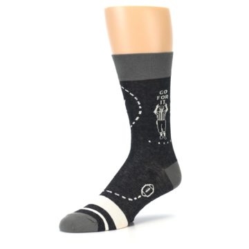 Image of Charcoal Sunday Night Football Men's Dress Socks (side-2-09)