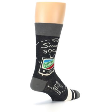 Image of Charcoal Sunday Night Football Men's Dress Socks (side-1-back-22)