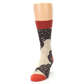 Image of Brown Coffee Men's Dress Socks (side-2-front-06)