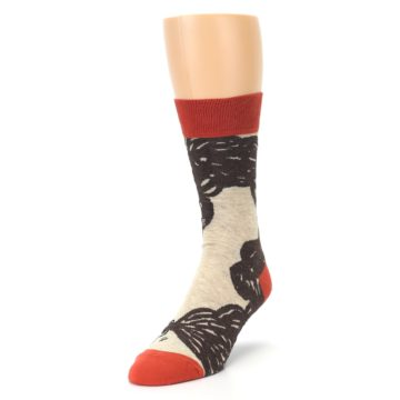 Image of Brown Coffee Men's Dress Socks (side-2-front-07)