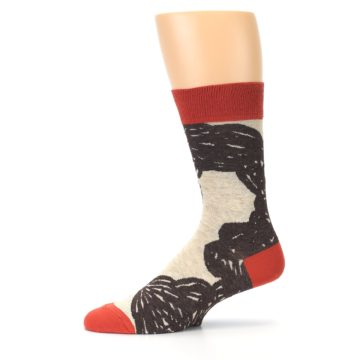 Image of Brown Coffee Men's Dress Socks (side-2-11)