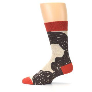 Image of Brown Coffee Men's Dress Socks (side-2-12)