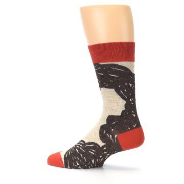 Image of Brown Coffee Men's Dress Socks (side-2-13)