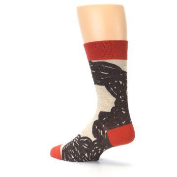 Image of Brown Coffee Men's Dress Socks (side-2-back-14)