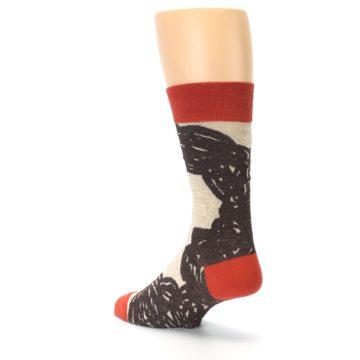 Image of Brown Coffee Men's Dress Socks (side-2-back-15)