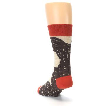 Image of Brown Coffee Men's Dress Socks (side-2-back-16)