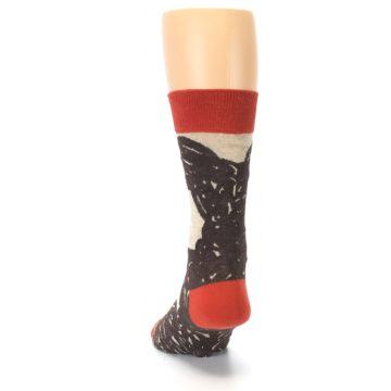 Image of Brown Coffee Men's Dress Socks (back-17)