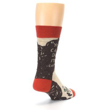 Image of Brown Coffee Men's Dress Socks (side-1-back-21)