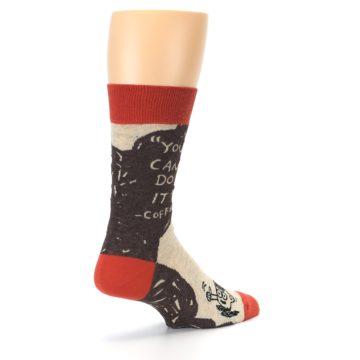 Image of Brown Coffee Men's Dress Socks (side-1-back-22)