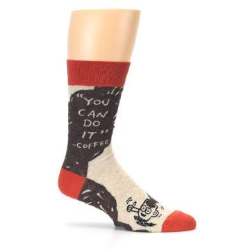 Image of Brown Coffee Men's Dress Socks (side-1-25)
