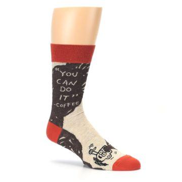 Image of Brown Coffee Men's Dress Socks (side-1-26)