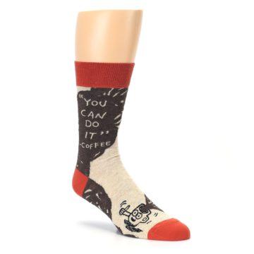 Image of Brown Coffee Men's Dress Socks (side-1-27)