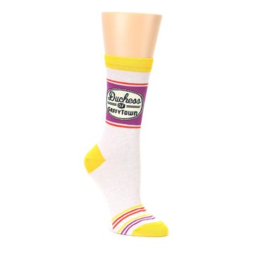 women's sassy town novelty sock by blue Q