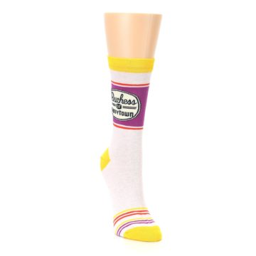 Image of Lilac Duchess of Sassytown Women's Dress Socks (side-1-front-03)