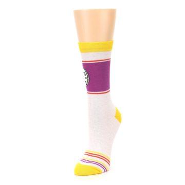 Image of Lilac Duchess of Sassytown Women's Dress Socks (side-2-front-08)