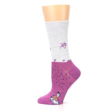 Image of Pink I'm Not Bossy Women's Dress Socks (side-2-12)