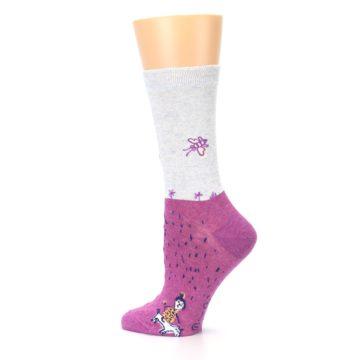 Image of Pink I'm Not Bossy Women's Dress Socks (side-2-13)