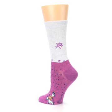 Image of Pink I'm Not Bossy Women's Dress Socks (side-2-back-14)