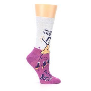 Image of Pink I'm Not Bossy Women's Dress Socks (side-1-25)
