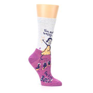 Image of Pink I'm Not Bossy Women's Dress Socks (side-1-26)