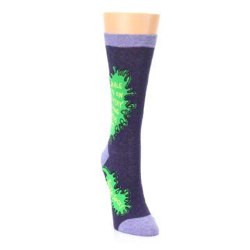 Image of Purple Green Kale Women's Dress Socks (side-1-front-03)