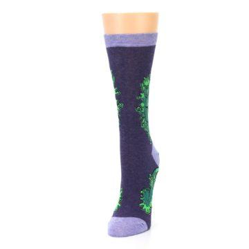 Image of Purple Green Kale Women's Dress Socks (side-2-front-07)
