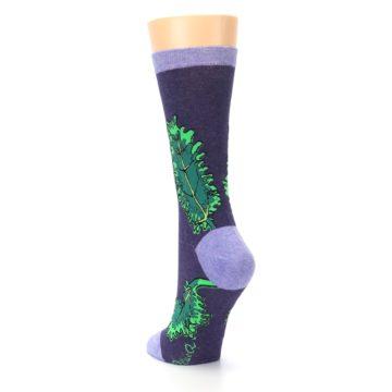 Image of Purple Green Kale Women's Dress Socks (side-2-back-16)