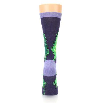Image of Purple Green Kale Women's Dress Socks (back-19)
