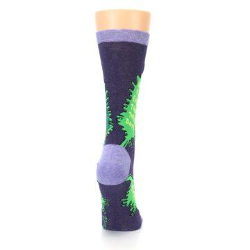 Image of Purple Green Kale Women's Dress Socks (side-1-back-20)