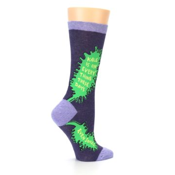 Image of Purple Green Kale Women's Dress Socks (side-1-24)